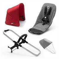 bugaboo Duo-Extension-Pack for Donkey 3 Core Design Alu / Grey Melange / Red