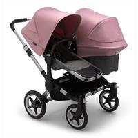 bugaboo Sibling Stroller Donkey 3 Mono Alu / Grey Melange/ Soft Pink