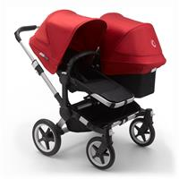 bugaboo Sibling Stroller Donkey 3 Mono Alu / Black / Red