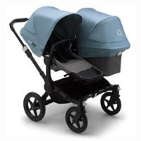 bugaboo Sibling Stroller Donkey 3 Mono Black / Grey Melange/ Vapor Blue