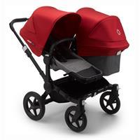 bugaboo Sibling Stroller Donkey 3 Mono Black / Grey Melange/ Red