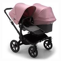 bugaboo Sibling Stroller Donkey 3 Mono Black / Grey Melange/ Soft Pink