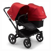 bugaboo Sibling Stroller Donkey 3 Mono Black / Black / Red