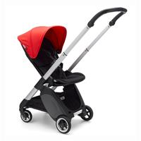 bugaboo Kinderwagen Ant Design 2020 Gestell Alu / Schwarz / Neon Rot