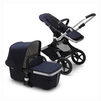 bugaboo Combi Stroller Fox 2 Complete-Set Classic Alu / Dunkles Marine