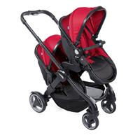 Chicco Geschwisterwagen/ Zwillingswagen Fully Twin Red Passion