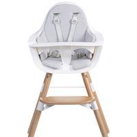 Childhome seat cushion pastel gray for high chair EVOLU, EVOLU 2 or Evolu ONE.80 °