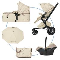 Concord NEO MOBILITY SET w Buggy NEO, Cradle SCOUT & Infant Carrier AIR.SAFE Special Edition Ivory