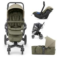 Concord NEO PLUS MOBILITY-SET 3in1 Buggy mit Babyschale & Tragewanne Moss Green