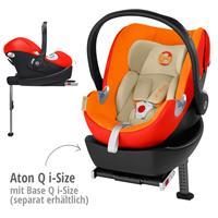 Babyschale Aton Q i-Size Midnight Bluemit XXL Cabrio Sonnendachmit Basisstation Base Q i-Size