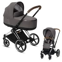 Cybex Priam Chrome Lux Kombikinderwagen Manhattan Grey