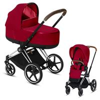Cybex Priam Chrome Lux Kombikinderwagen True Red