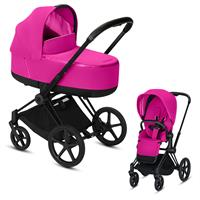 Cybex Priam Black Lux Kombikinderwagen Fancy Pink