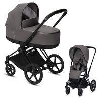 Cybex Priam Black Lux Kombikinderwagen Manhattan Grey