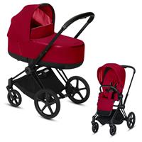 Cybex Priam Black Lux Kombikinderwagen True Red
