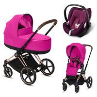 Cybex Priam Rosegold Lux Kombikinderwagen Fancy Pink mit Babyschale