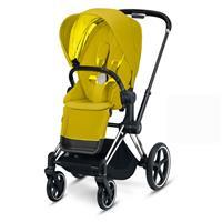 Priam Sportwagen Chrome/Schwarz Mustard Yellow von Cybex