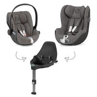Cybex Z-Line car seat Modular System with Base Z, Cloud Z & Sirona Z PLUS Soho Grey