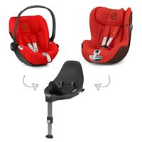 Cybex Z-Line Child Seat Modular System with Z Base, Cloud Z & Sirona Z Autumn Gold | burnt red