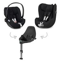 Cybex Z-Line Child Seat Modular System with Z Base, Cloud Z & Sirona Z Deep Black | Black