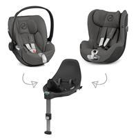 Cybex Z-Line Kindersitz Modular System mit Base Z, Cloud Z & Sirona Z Manhattan Grey