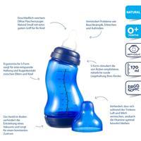 Difrax S Babyflasche Natural 170ml Dunkelblau 2