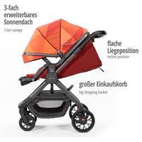 diono Quantum Kinderwagen mit erweiterbarem Sonnendach, flacher Liegeposition & großem EInkaufskorb