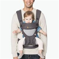 Ergobaby Carrier 360 Babytrage Cool Air Carbon/Grey | BC360PBLKGRY