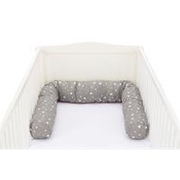 Fillikid Bettwurm/Nestcheneinlage für Babybett 190cm Sterne Grau