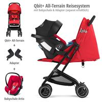 Qbit+ All Terrain Reisesystem mit Artio Babyschale & Babyschalen Adapter