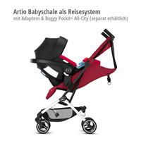 Artio Babyschale als Reisesystem mit goodbaby Pockit+ All-City