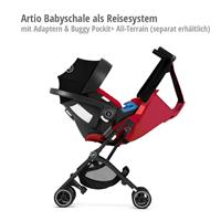 Artio Babyschale als Reisesystem mit goodbaby Pockit+ All-Terrain
