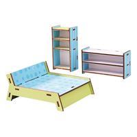 Haba Little Friends – Puppenhaus-Möbel Schlafzimme