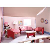 Haba Little Friends Puppenhaus Möbel Wohnzimmer Detailansicht 01