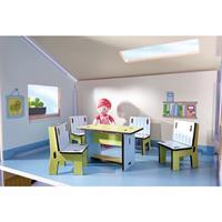 Haba Little Friends Puppenhaus Möbel Esszimmer Detailansicht 01
