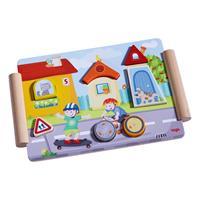 haba 301669 Holzpuzzle Bauen und Fahren 2 Detailansicht 01