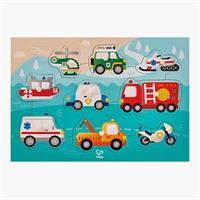 Hape Einsatzfahrzeuge Emergency Puzzle