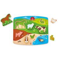 Hape Steckpuzzlespiel Bauernhoftiere Farm Animal Puzzle & Play