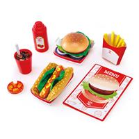 Hape Fast Food  Set for the game kitchen E3160