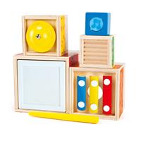 Hape Music Stack Cube Multi Musical Block Set