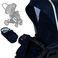 Hartan stroller set Racer GT mit Kombi bag 605 Navy Square