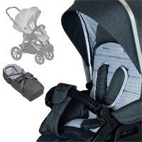 Hartan stroller set Racer GTS with Soft bag 633 Grey Spot