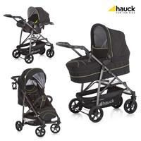 hauck Rapid 4 S Plus Trioset Deluxe Caviar/Neon yellow