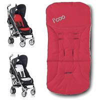 iCoo 2 Way Seat Pad für Buggies, rot