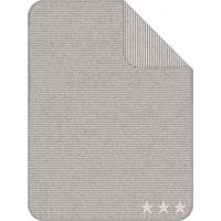 IBENA Jacquard Decke Kuschelkind Streifen Beige Sterne