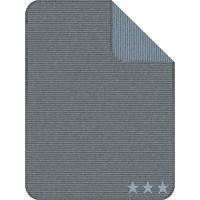 IBENA Jacquard Decke Kuschelkind Streifen Blau Sterne