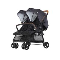 Jette Joop Twin Stroller Jonathan Fishbone Graphite with bar
