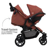 Travel-System Gemm Babyschale & Joie Litetrax 4 | Brick Red