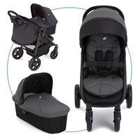 Joie Litetrax 4 Kinderwagen mit Babywanne Chromium