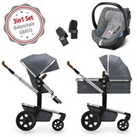 Joolz Day 3 Kinderwagen Set 3in1 Studio Amazing Grey mit Gratis Aton5 Babyschale